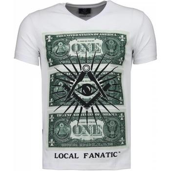 textil Herr T-shirts Local Fanatic One Dollar Eye Black Stones Vit