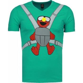 textil Herr T-shirts Local Fanatic Baby Bear Roliga Mint Grön