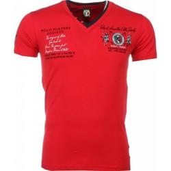 textil Herr T-shirts David Copper Broder PoloSpelare Röd