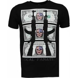 textil Herr T-shirts Local Fanatic AK Dollar Rhinestone Svart
