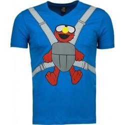 textil Herr T-shirts Local Fanatic Baby Bear Roliga Blå