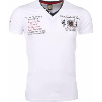 textil Herr T-shirts David Copper Broder PoloSpelare Vit