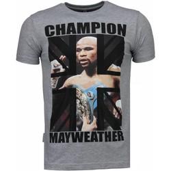 textil Herr T-shirts Local Fanatic Mayweather Champion Grå