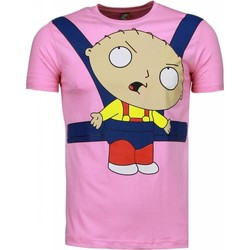 textil Herr T-shirts Local Fanatic Baby Stewie Rosa