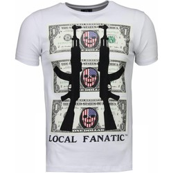 textil Herr T-shirts Local Fanatic AK Dollar Rhinestone Vit