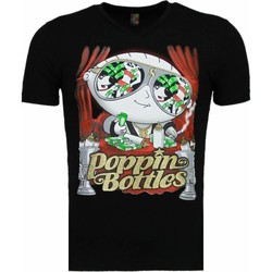 textil Herr T-shirts Local Fanatic Poppin Stewie Zwart Svart