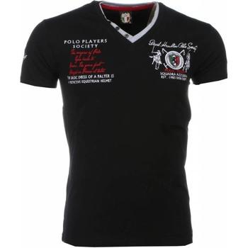 textil Herr T-shirts David Copper Broder PoloSpelare Svart
