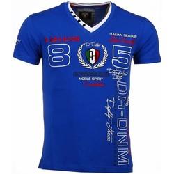 textil Herr T-shirts David Copper Broderi Automobile Club Blå