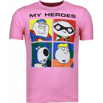 textil Herr T-shirts Local Fanatic Super Family My Heroes Rosa