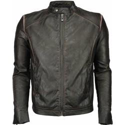 textil Herr Skinnjackor & Jackor i fuskläder Enos Imitation Leather Jacka Street Wear Brun