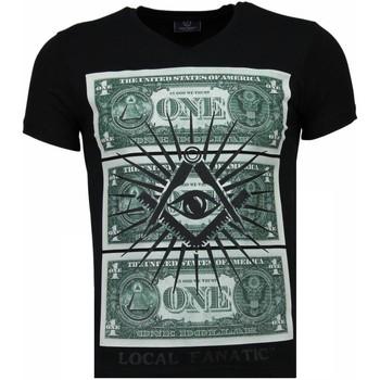 textil Herr T-shirts Local Fanatic One Dollar Eye Black Stones Svart