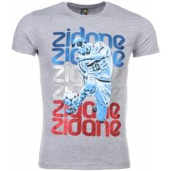 textil Herr T-shirts Local Fanatic Zidane Print Grå