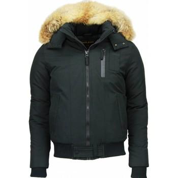 textil Herr Parkas Enos Vinterjackor Päls Stor Pälskrage PIZ Svart