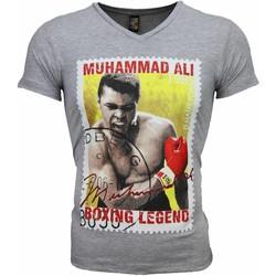 textil Herr T-shirts Local Fanatic Muhammad Ali Tätning Print Grå
