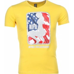 textil Herr T-shirts Local Fanatic A Tryck Kläder NPA Gul