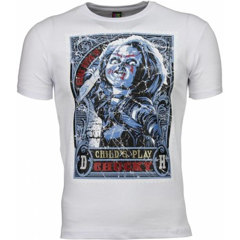 textil Herr T-shirts Local Fanatic Chucky Poster Print Vit