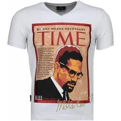 textil Herr T-shirts Local Fanatic Malcolm X Time Vit