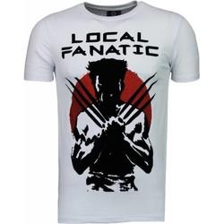 textil Herr T-shirts Local Fanatic Wolverine Flockprint Vit