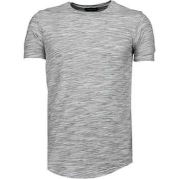 textil Herr T-shirts Tony Backer Sleeve Ribbel Grijs Grå