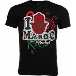 textil Herr T-shirts Local Fanatic I Love Maroc Zwart Svart