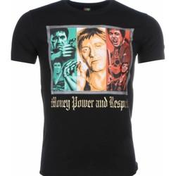 textil Herr T-shirts Local Fanatic Scarface Money Power Respect Svart