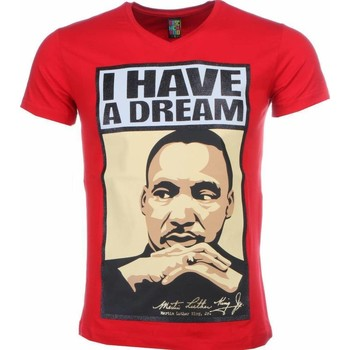 textil Herr T-shirts Local Fanatic Martin Luther King I Have A Dm Röd