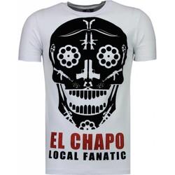 textil Herr T-shirts Local Fanatic El Chapo Flockprint Vit