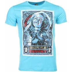 textil Herr T-shirts Local Fanatic Chucky Poster Print Blå