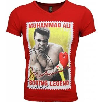 textil Herr T-shirts Local Fanatic Muhammad Ali Tätning Print Röd