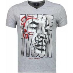 textil Herr T-shirts Local Fanatic Mike Tyson Tribal Grå