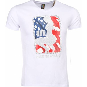 textil Herr T-shirts Local Fanatic A Tryck Kläder NPA Vit