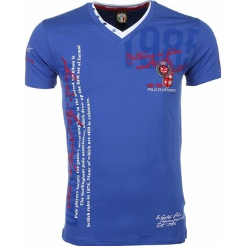 textil Herr T-shirts David Copper För Italy Blå