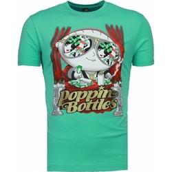 textil Herr T-shirts Local Fanatic Poppin Stewie Grön
