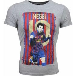 textil Herr T-shirts Local Fanatic Messi  Print Football Grå