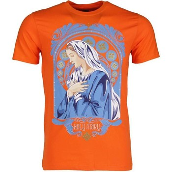 textil Herr T-shirts Local Fanatic Holy Mary Print Apelsin Orange