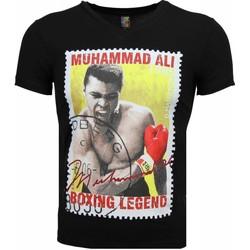 textil Herr T-shirts Local Fanatic Muhammad Ali Tätning Print Svart