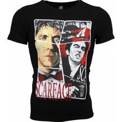 textil Herr T-shirts Local Fanatic Scarface Frame Print Svart
