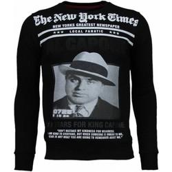 textil Herr Sweatshirts Local Fanatic Al Capone Rhinestone Zwart Svart