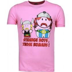 textil Herr T-shirts Local Fanatic Sommarkläder Rosa