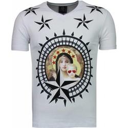 textil Herr T-shirts Local Fanatic Holy Mary Stars Rhinestone Vit
