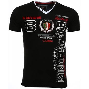 textil Herr T-shirts David Copper Italiaanse Korte Mouwen Heren Borduur Automobile Club Zwart Svart