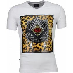 textil Herr T-shirts Local Fanatic Mason A Tryck Kläder Vit
