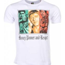 textil Herr T-shirts Local Fanatic Scarface Money Power Respect Vit