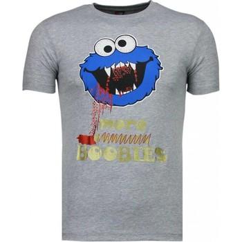 textil Herr T-shirts Local Fanatic Cookies Roliga Grå