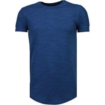 textil Herr T-shirts Tony Backer Sleeve Ribbel Navy Blå