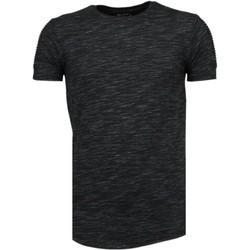 textil Herr T-shirts Tony Backer Sleeve Ribbel Zwart Svart
