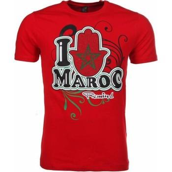 textil Herr T-shirts Local Fanatic I Love Maroc Rood Röd