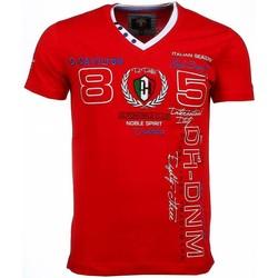 textil Herr T-shirts David Copper Italiaanse Korte Mouwen Heren Röd