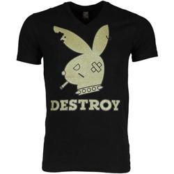 textil Herr T-shirts Local Fanatic Bunny Destroy Svart