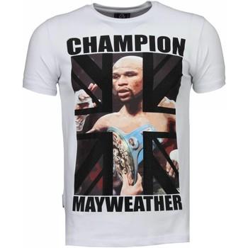textil Herr T-shirts Local Fanatic Mayweather Champion Vit